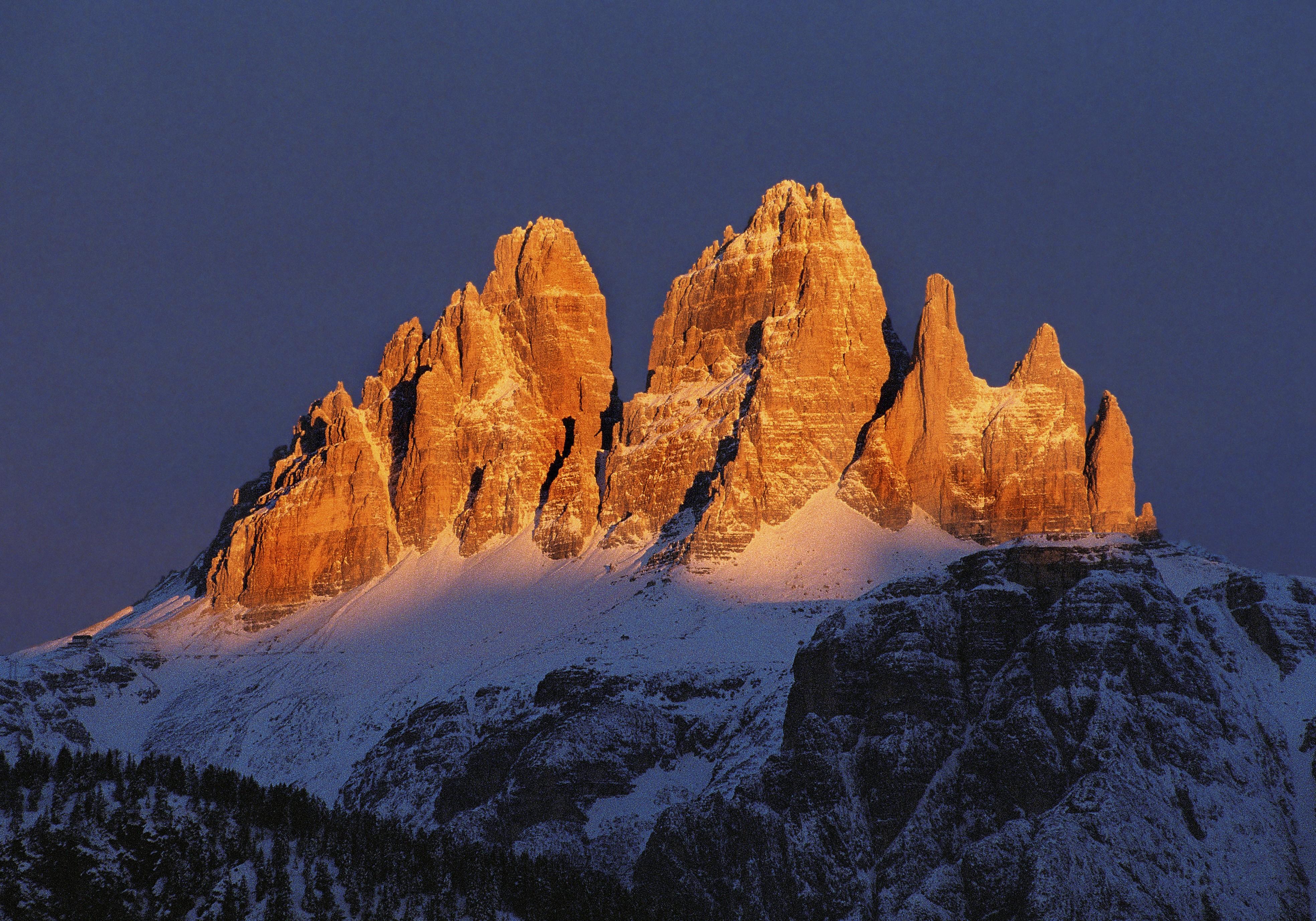Tre Cime Invernali Da Monte Agudo